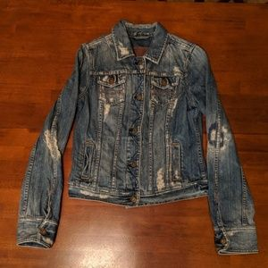 Abercrombie & Fitch Distressed Jean Jacket Medium
